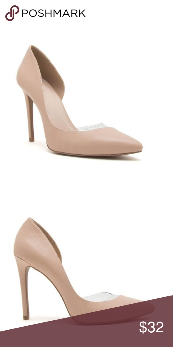 223a9992d4f Sexy Kim K Nude & Clear Pump NWT Sexy Nude & Clear heels features a ...
