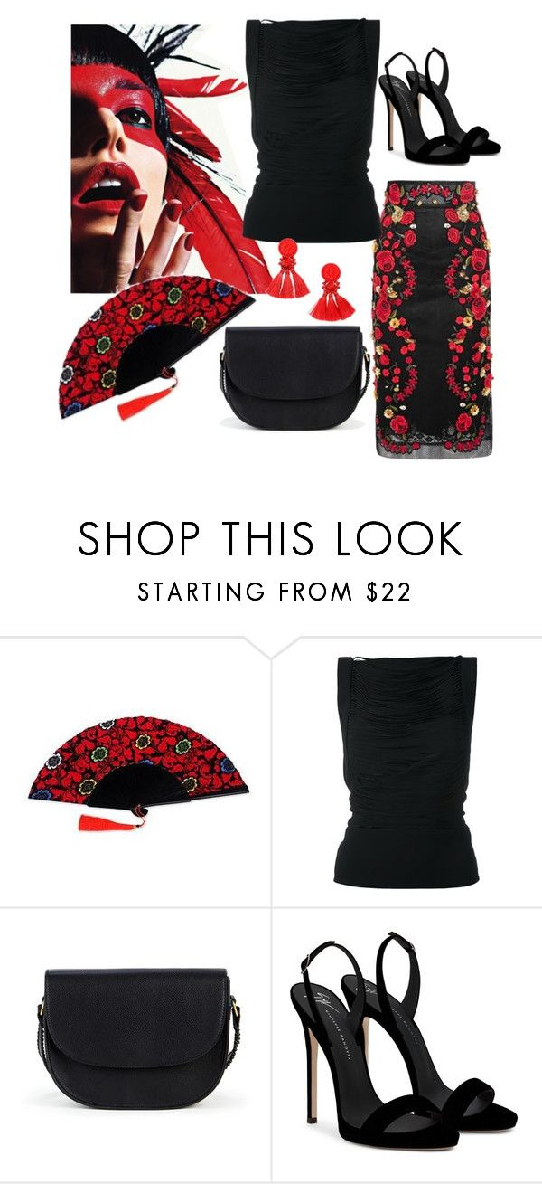 """Fan contest"" by aspinall-moira ❤ liked on Polyvore featuring ESPRIT, NOVICA, Tom Ford, Sole Society and Giuseppe Zanotti"