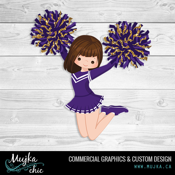 Custom Cheerleader Clipart Purple And Gold Colors Www Mujka Ca Cheerleader Clipart Pattern Art Illustration