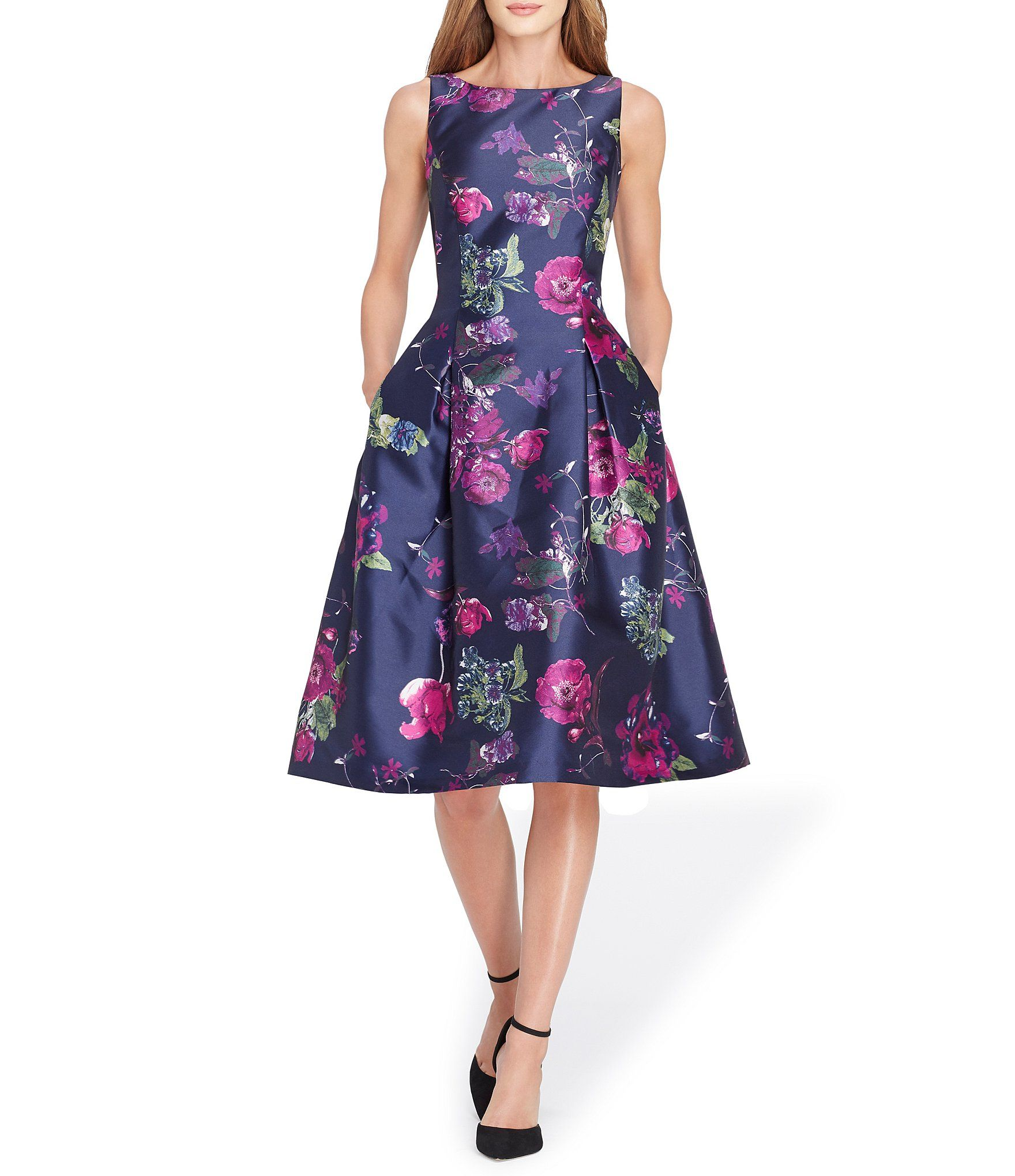 Tahari ASL Floral Mikado Fit and Flare Dress #Dillards | Mother of ...