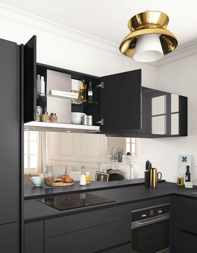 Des placards de cuisine pratiques en hauteur cuisine en 2019 kitchen decor diy kitchen - Hauteur placard cuisine ...