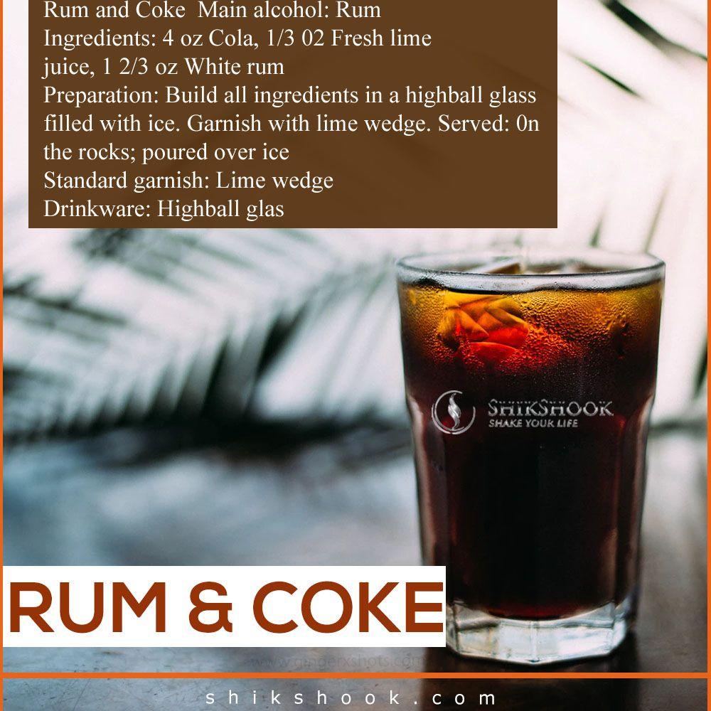 Rum And Coke Main Alcohol Rum Ingredients 4 Oz