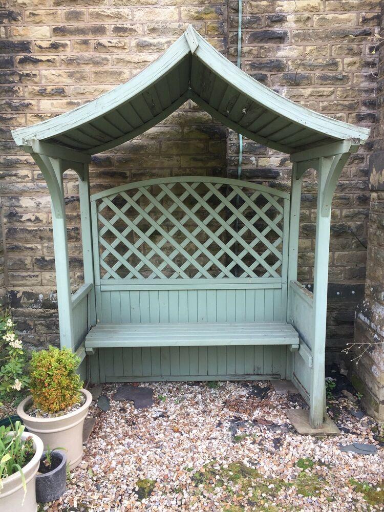 Admirable Details About Used Wooden Garden Arbour Bench Seat Pergula Spiritservingveterans Wood Chair Design Ideas Spiritservingveteransorg