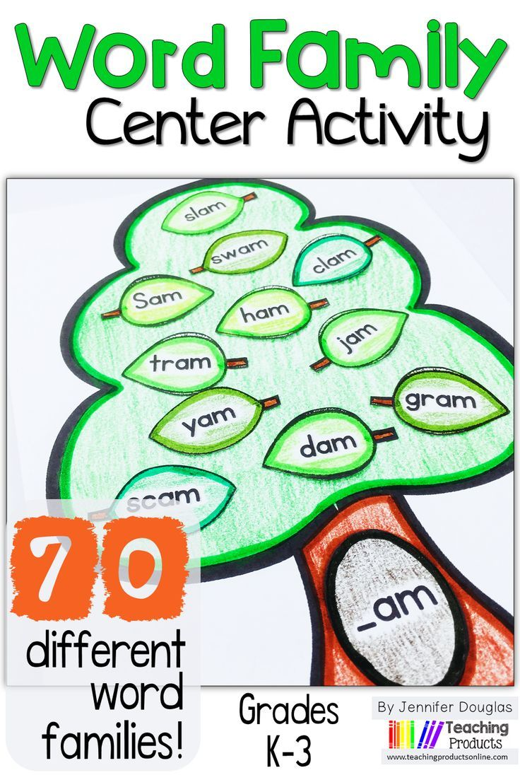 Word Family Center Activities | Worksheets, Kindergarten and Activities