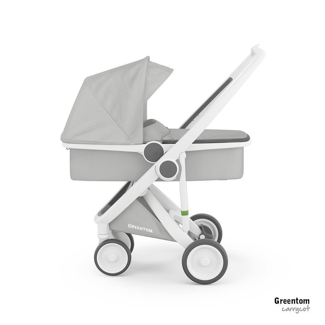 your newborn will love to go for a ride in the greentom carrycot a