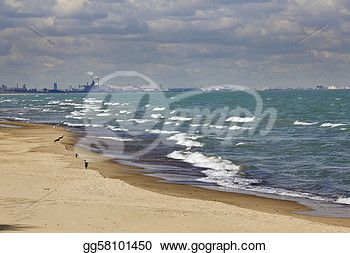 """""""Industrial area by Lake Michigan"""" -Indiana Stock Photo from gograph.com"""