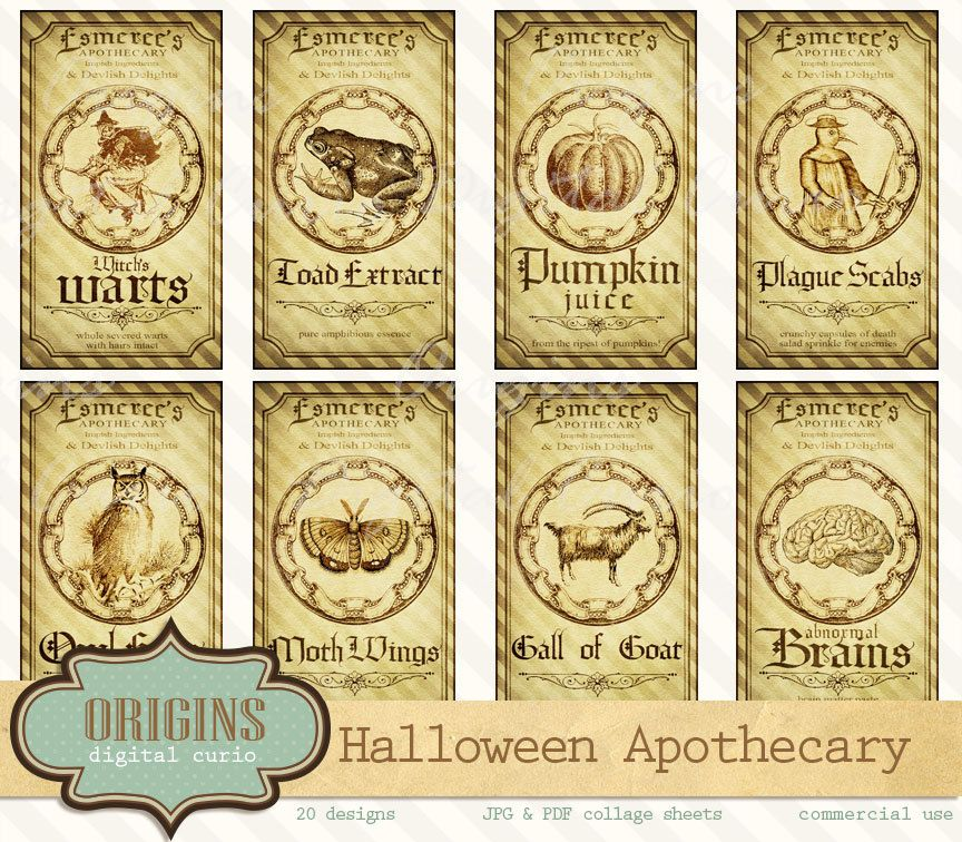 Potion labels