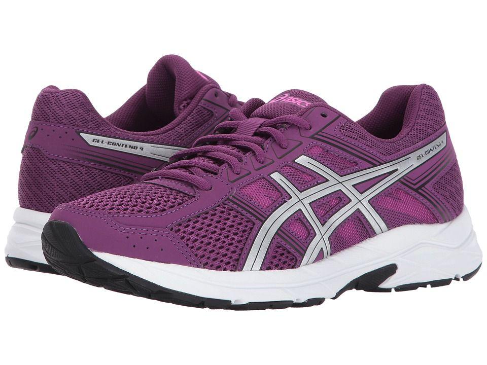 herausragende Eigenschaften am besten auswählen eine große Auswahl an Modellen ASICS GEL-Contend 4 Women's Running Shoes Prune/Silver/Black ...