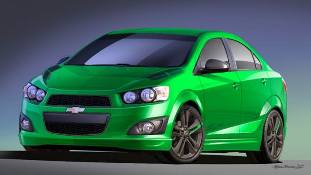 Green Chevy Sonic