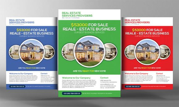 Premium Real Estate Flyer Template By Business Templates On