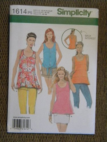 Plus Sizes XXL-6X Woman/'s V-Neck Tops Sewing Pattern~Pullover Butterick 6187