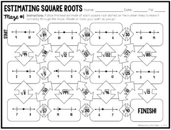 Estimating Square Roots: Mazes by Maneuvering the Middle