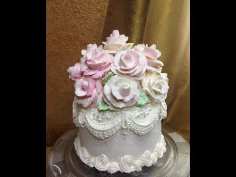 Giant Ercream Rose Wedding Cake Topper Decorating You