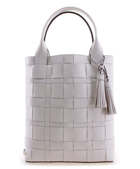 0e0d604eb97a Michael Kors Optic White Vivian Leather Tote