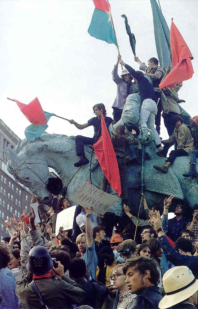 Protesting In Grant Park During The 1968 Democratic National Convention Grant Park Chicago History My Kind Of Town