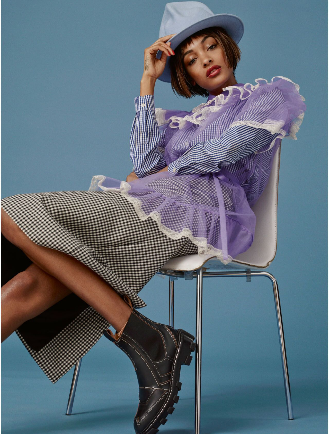 "ELLE UK April 2016: ""Get It Dunn"" Photographer: Bjarne Jonasson Fashion Editor: Anne-Marie Curtis Model: Jourdan Dunn  Hair: Renda Attia Makeup: Kirstin Piggott"