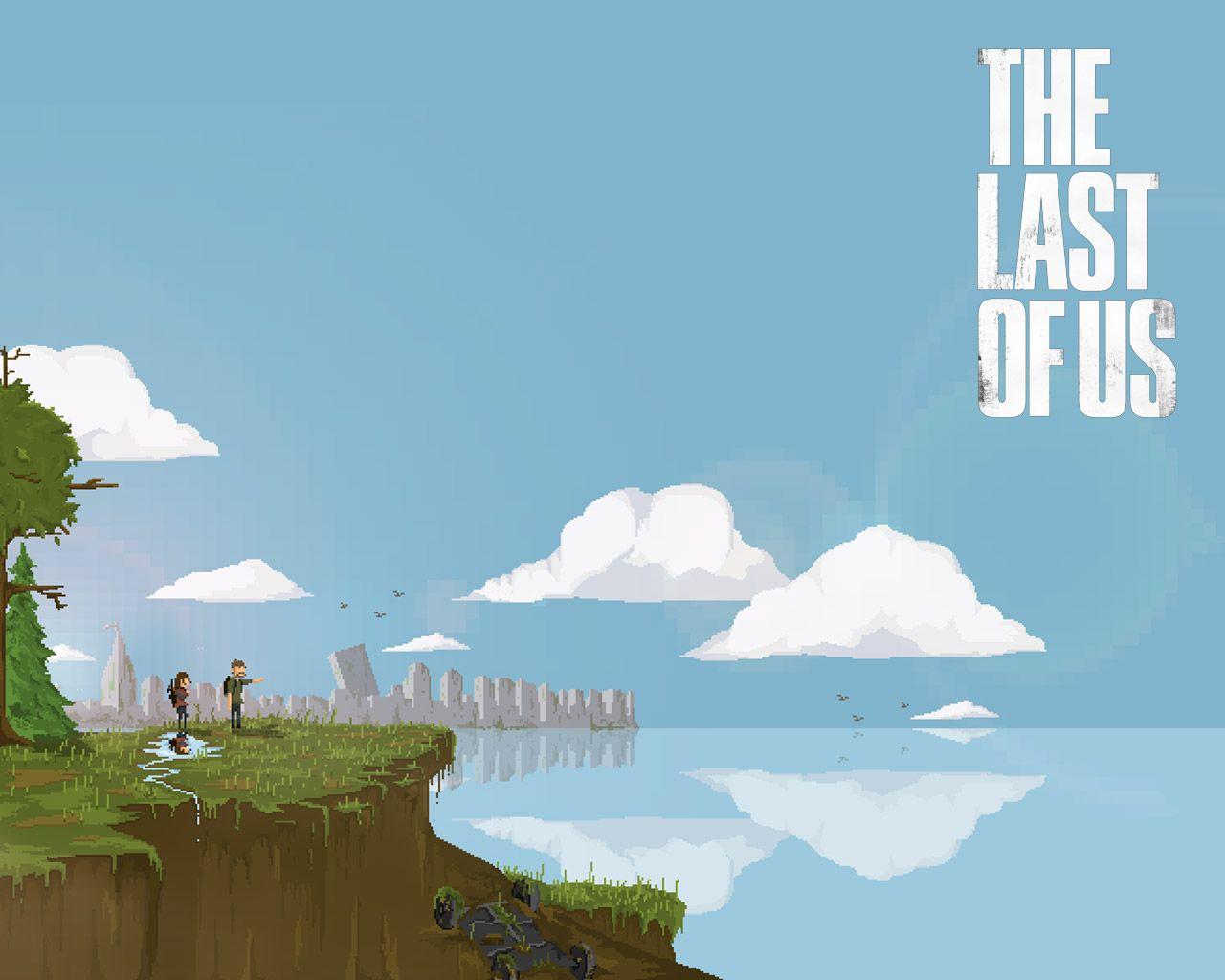 The Last Of Us Pixel Art Desktop Wallpaper Art