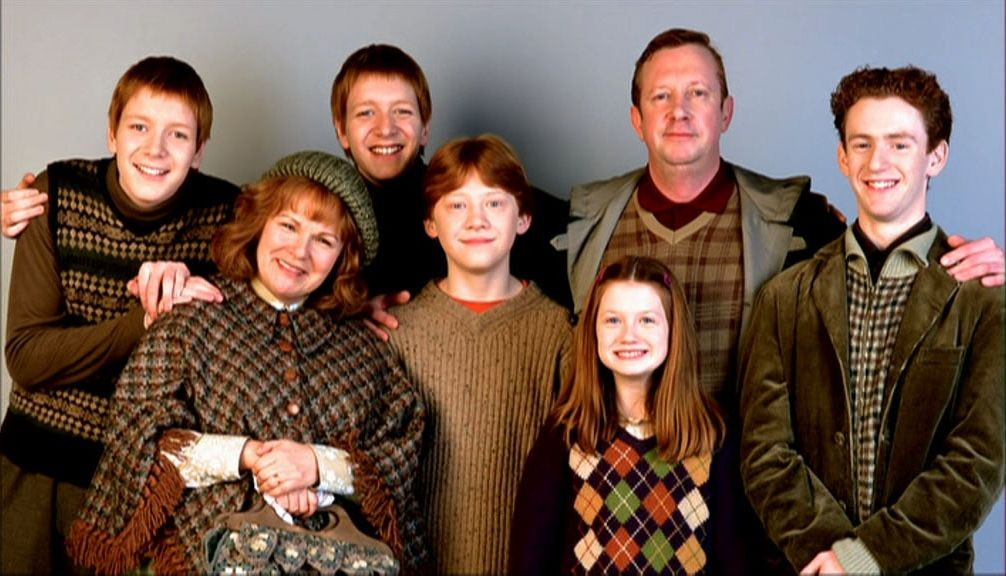Weasley Family Portrait Harry Potter Movies Weasley Family Harry Potter Love