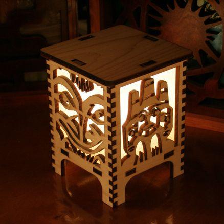 Laser Cut Lamp Curious Customs