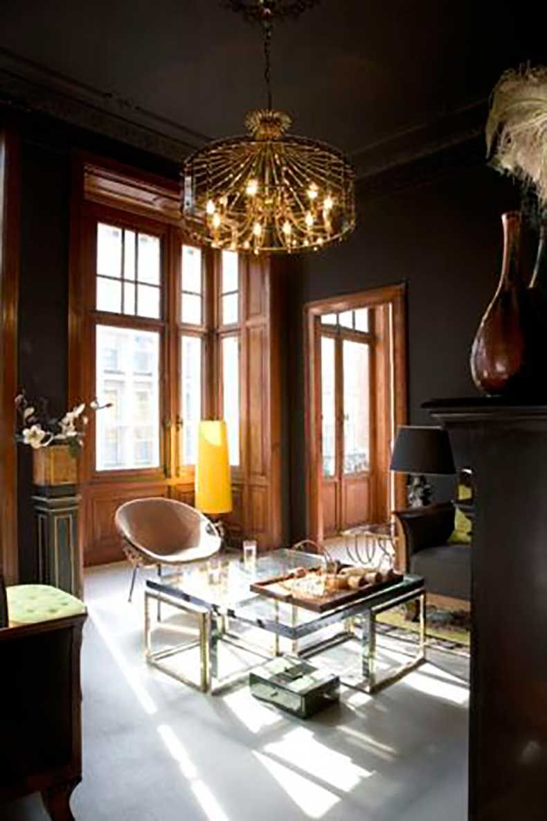 Best Moody Dark Brown Living Home Decorating Trends Homedit 400 x 300