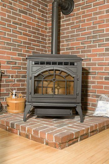 How To Use Concrete Pavers For A Wood Stove Hearth Brick Hearth