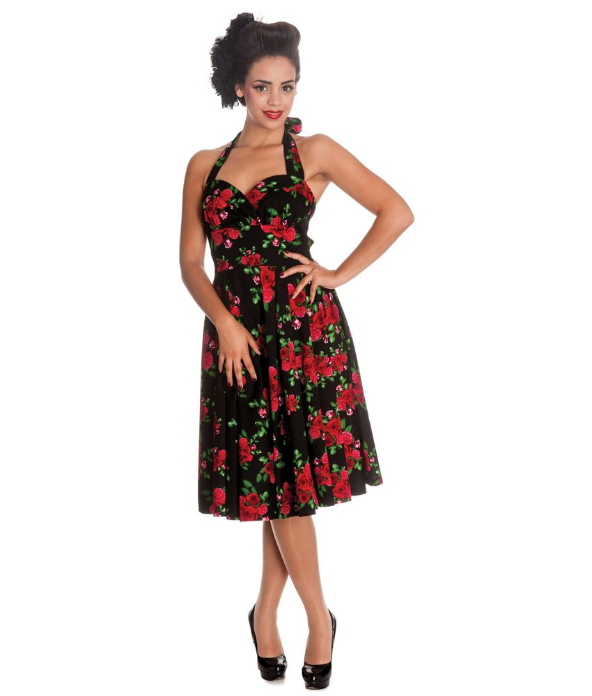 6c73a463c9c1 Hell Bunny 50's Cannes Rose Floral Dress In White | Tiger Milly ...