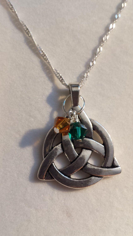 Family celtic knot necklace custom gift custom family