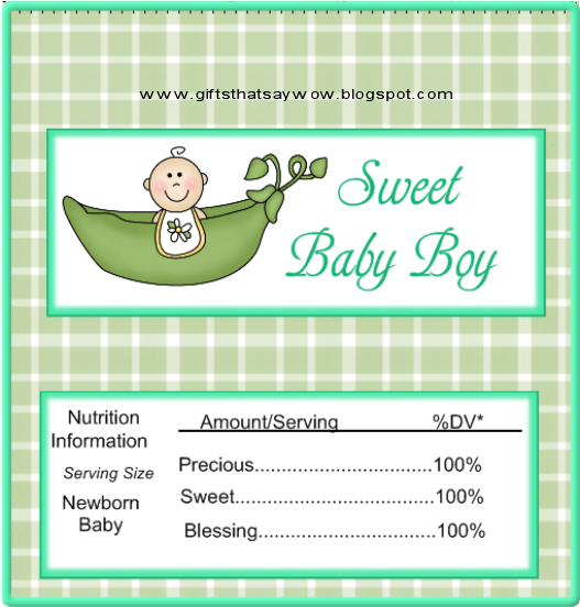 Candy Bar Wrapper Template Boys  Cute Baby Shower Candy Wrapper
