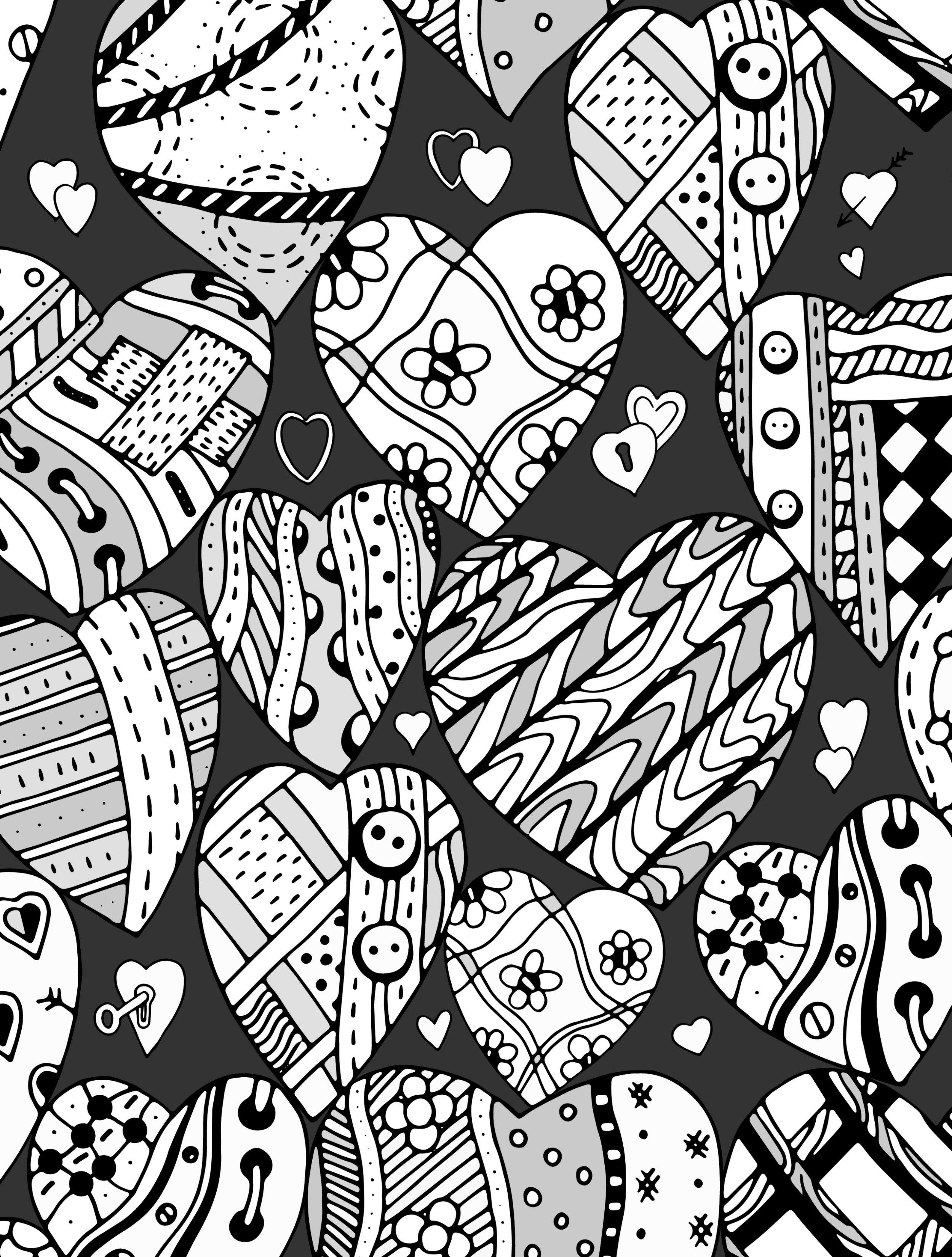 20 Free Printable Valentines Adult Coloring Pages | Heart ...
