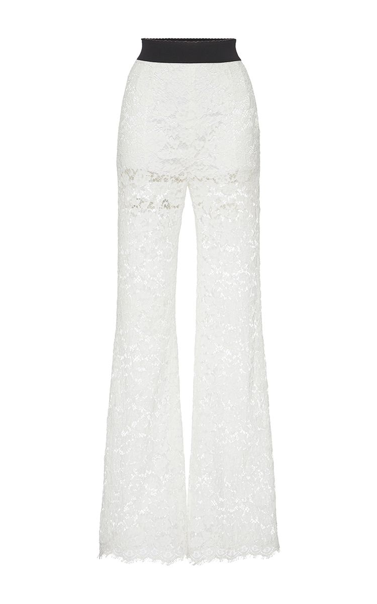 9d54e76f6011 Sheer Lace Trousers by DOLCE   GABBANA Now Available on Moda Operandi