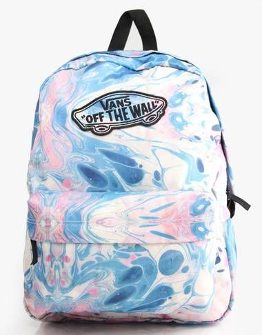 a54728ebbd9599 Vans Realm Backpack - Marble True White