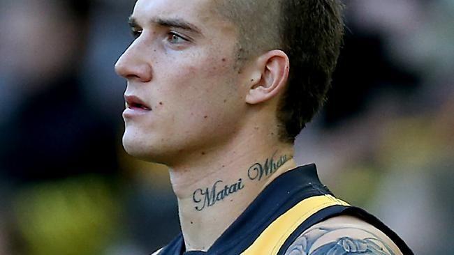 Dustin Martin Tattoos What Tigers Star S Ink Really Means Herald Sun Small Tattoos Tiny Elephant Tattoo Small Tats