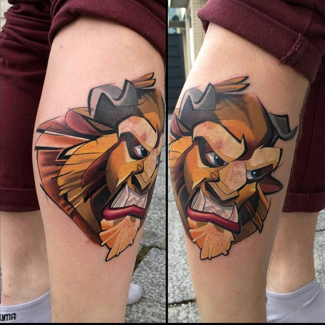 """21 Of The Coolest """"beauty And The Beast"""" Tattoos 