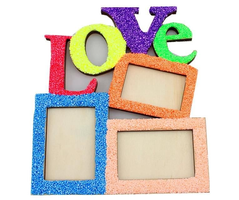 Free Shipping LOVE Wooden Photo Frame White Base Frame DIY Picture