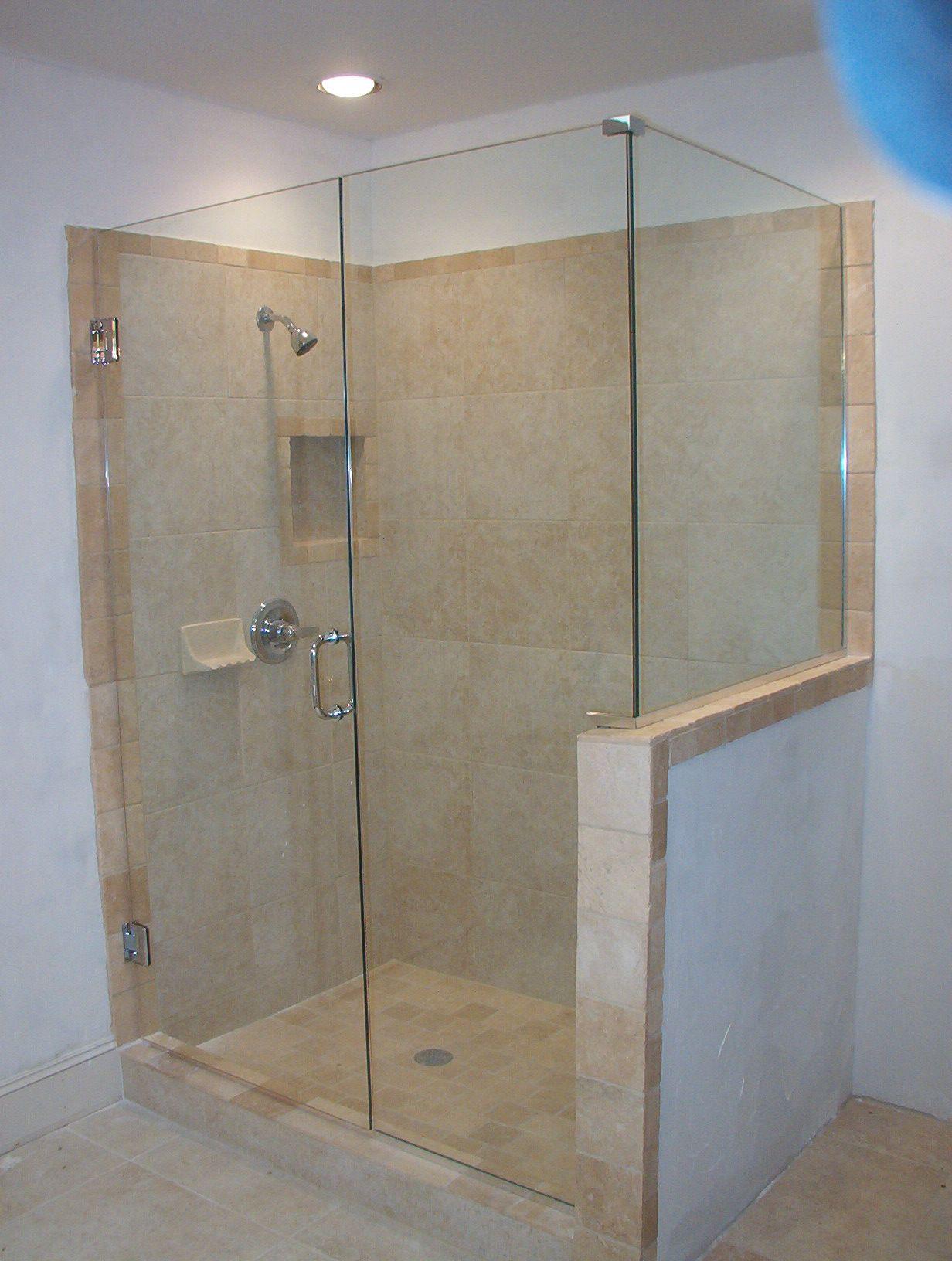 glass shower doors frameless  Frameless Shower Glass