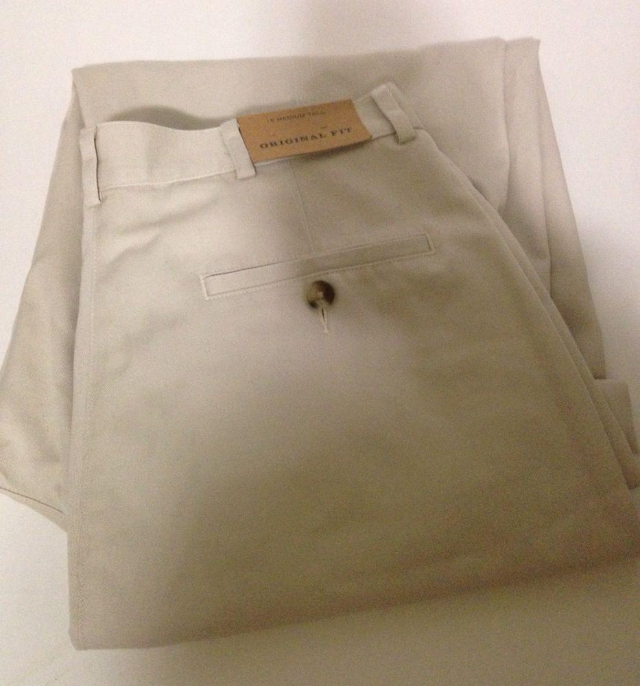 LL Bean Wrinkle Resistant Cotton Pants Size 16 Tall #LLBean #DressPleat