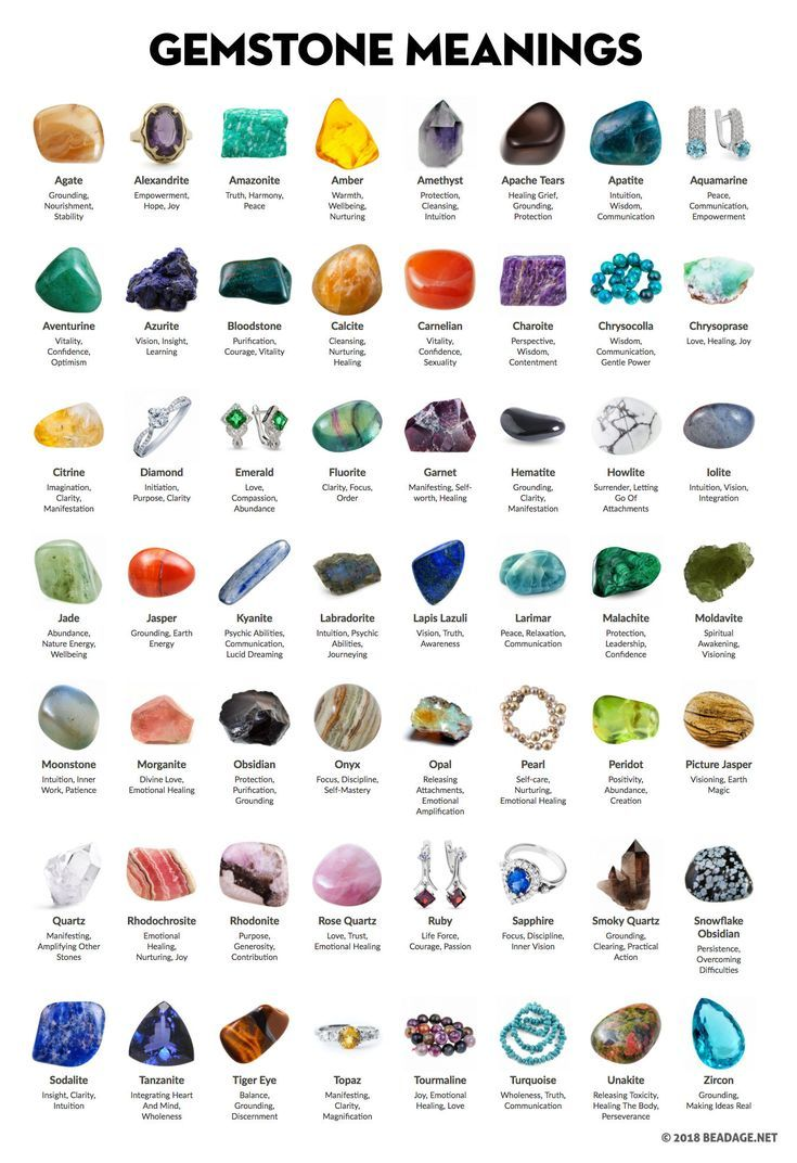 Gemstone Meanings and Properties. A list of  precious and semi-precious gemstones, crystals, and minerals and their metaphysical & healing properties and spiritual powers. #gemstones #crystals #crystalhealing