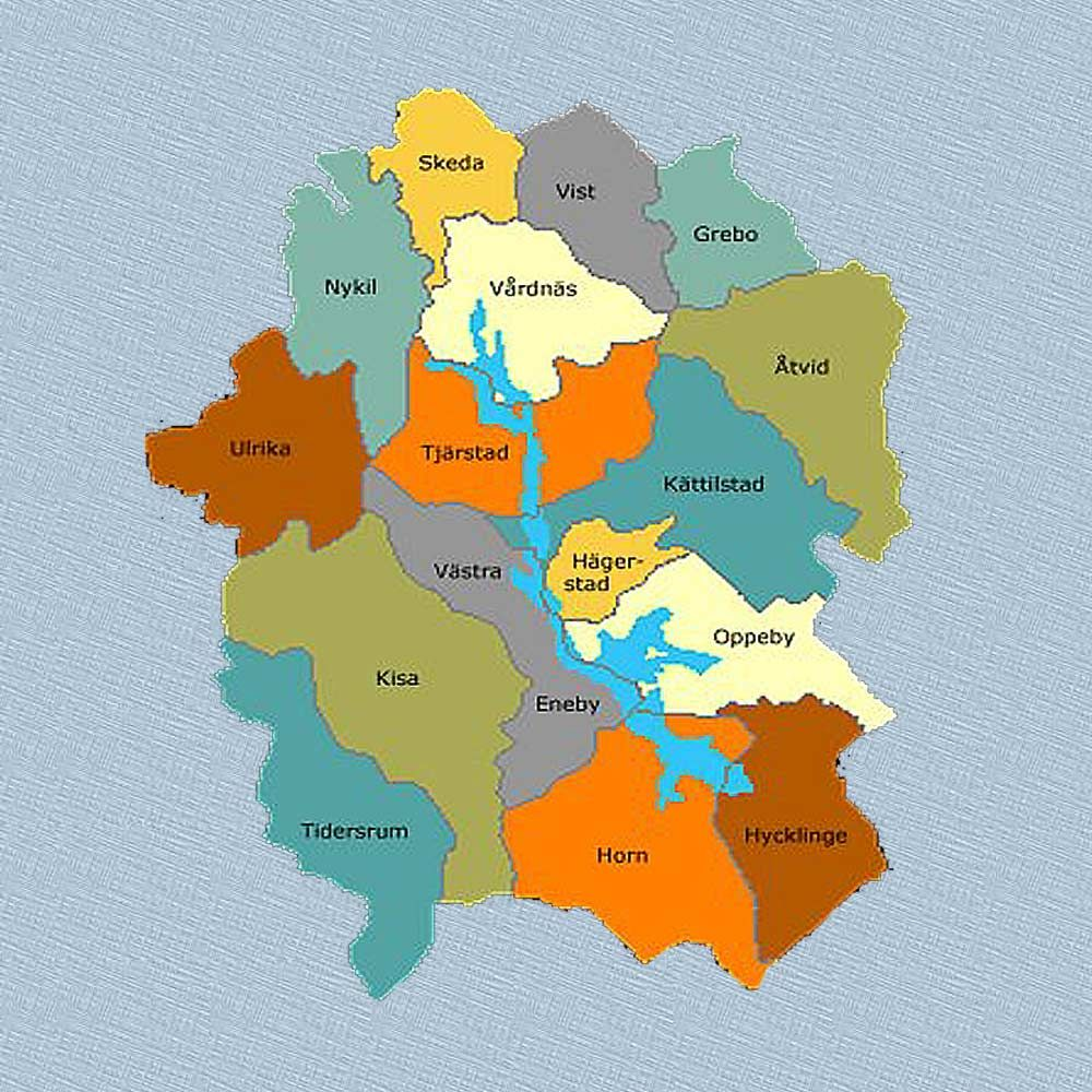 Östergotland map