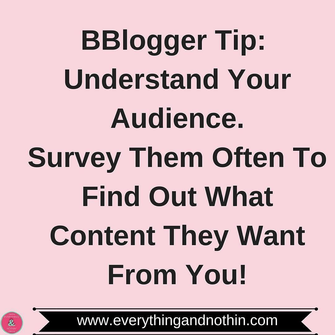 Todayus bbloggertips understanding your audience is so important