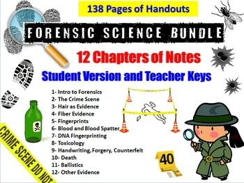 Forensic Science Lecture Notes Bundle Lectures Notes Forensic Science Science Notes
