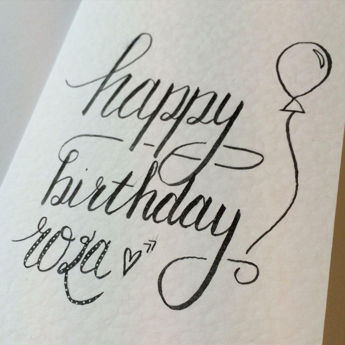 Happy birthday birthdaycard handmade handlettering