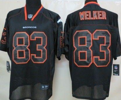 Nice Nike Denver Broncos #83 Wes Welker Lights Out Black Elite Jersey  supplier