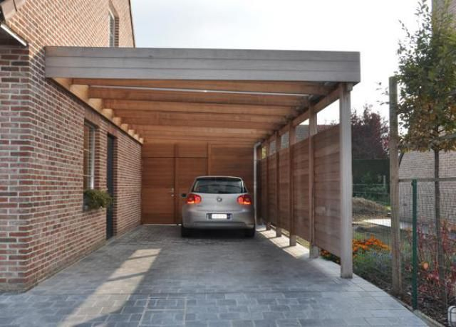 Houten carport in iroko door Woodproject | Kocsi beállók | Pinterest ...