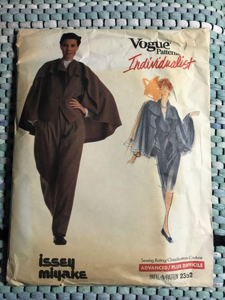 Sewing Pattern Jacket Skirt Uncut Size 12 Vogue Individualist Issey ...