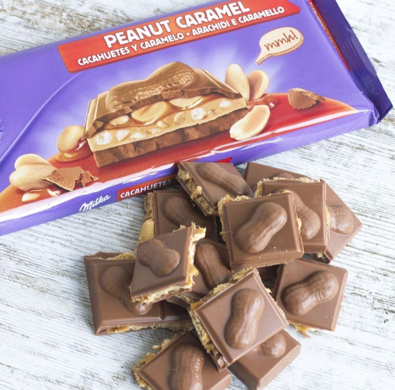 Milka Chocolatepeanut Caramel еда рецепты здоровой