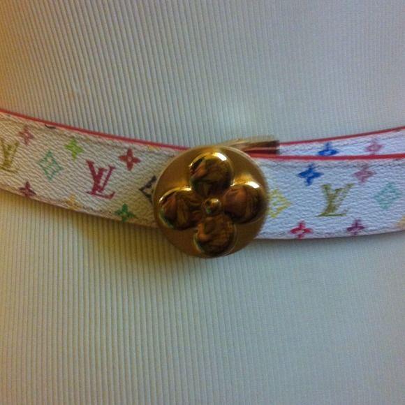 Louis Vuitton built Monogram multicolor built gold flower Louis Vuitton Accessories