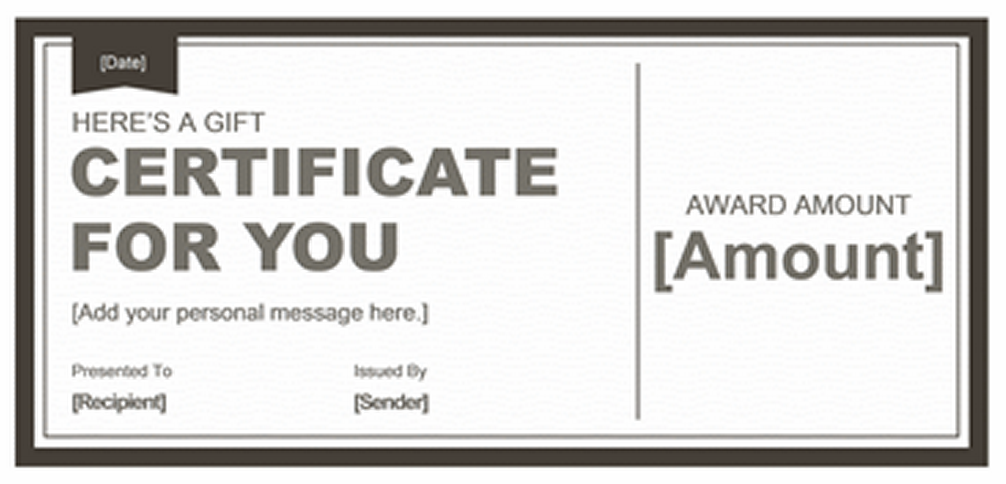 Free Gift Certificate Frame Google Search Businesspromotion