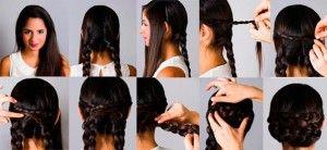 Recogido romano, encuentra más peinados con trenzas paso a paso en http://www.1001consejos.com/peinados-con-trenza-paso-paso/