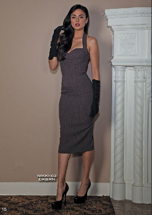 7e186e60a4 PRE ORDER New Stop Staring NIKKI Dark Brown Dress