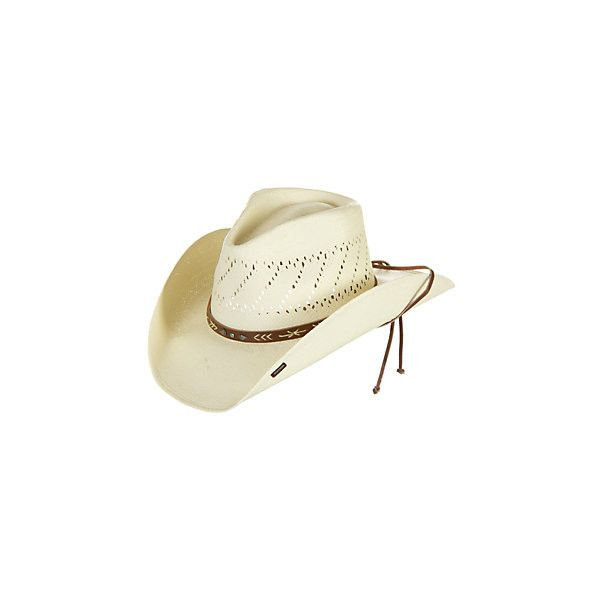 9b01aa1d7 Stetson Santa Fe Straw Hat ($39) ❤ liked on Polyvore featuring ...